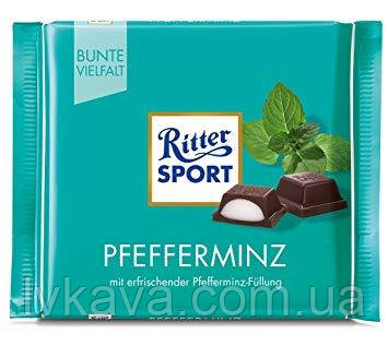 Черный шоколад  Ritter Sport Peppermint , 100 гр, фото 2