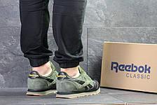 Мужские кроссовки Reebok Classic,черные с зеленым, фото 3
