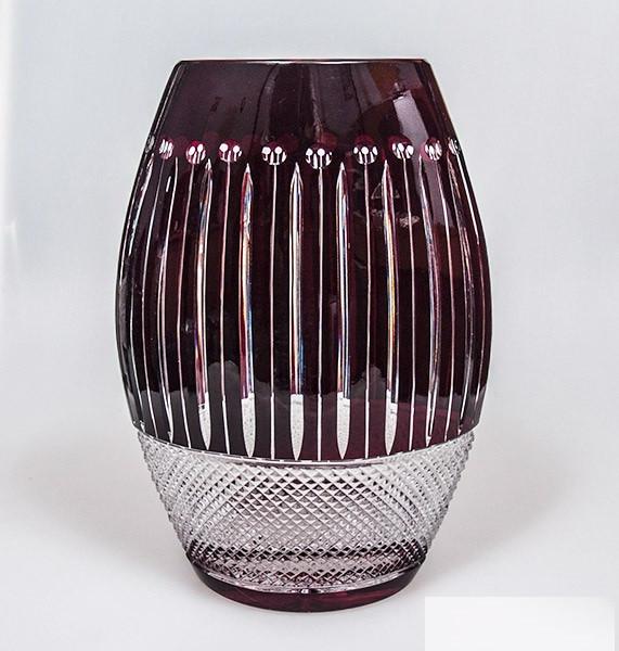 Красная хрустальная ваза Julia VS3069 (30 см)