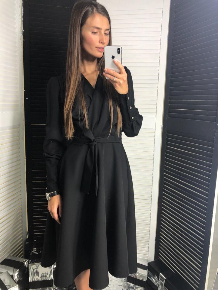 f252059c990 Женское Черное Классическое Платье — в Категории