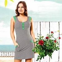 Трикотажное домашнее платье Т 2390