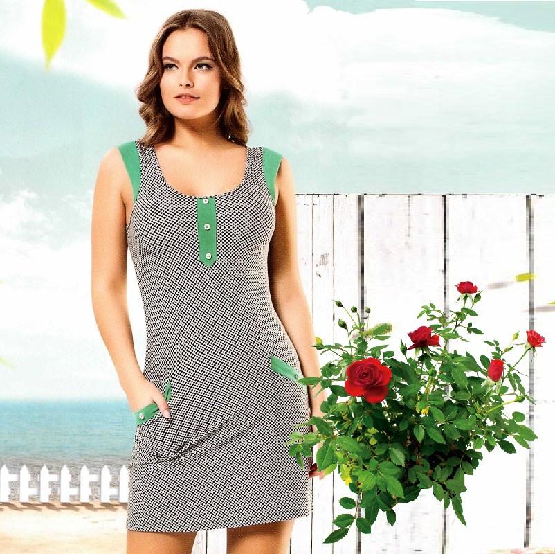 Трикотажное домашнее платье Т 2390, цена 370 грн., купить в Харькове —  Prom.ua (ID#82512748)