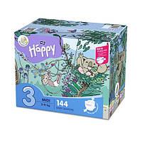 Підгузки Bella Happy 3 Mega Pack (5-9 кг) 144 шт., фото 1