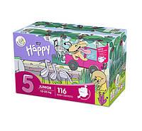 Підгузки Bella Happy 5 Mega Pack (12-25 кг) 116 шт, фото 1