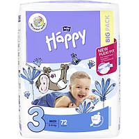 Подгузники Bella Happy 3 Big Pack (5-9 кг) 72 шт.