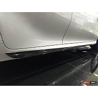 Накладки на на наружные порогиToyota Camry XV70 2018-