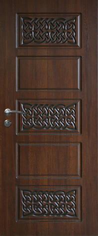 Двери уличные, модель 83 Комфорт, 970*2050, три контура уплотнения, коробка 110 мм, замки KALE, 3D фрезеровка, фото 2