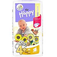 Подгузники Bella Happy Maxi 4+ Big Pack 62 шт.