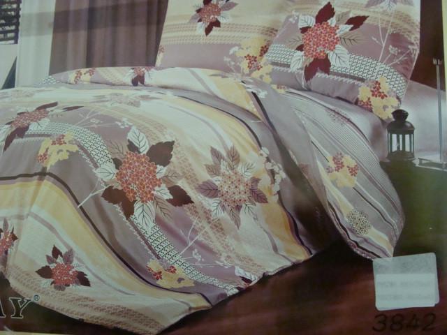 Сатиновое постельное белье семейное ELWAY 3842