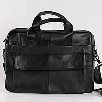 a3ef5034fed2 Качественный кожаный портфель для ноутбука, деловой черный