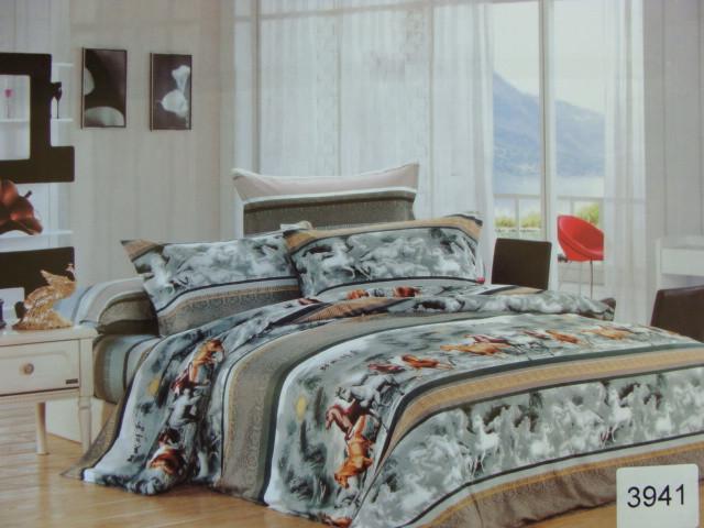 Сатиновое постельное белье семейное ELWAY 3941