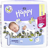 Подгузники Bella Happy Newborn 1 (2-5 кг) 78 шт.