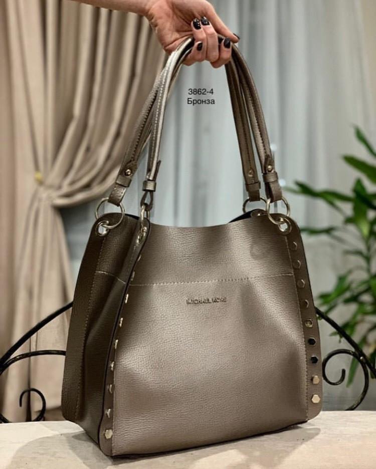 Женская сумочка в стиле Michael Kors бронза