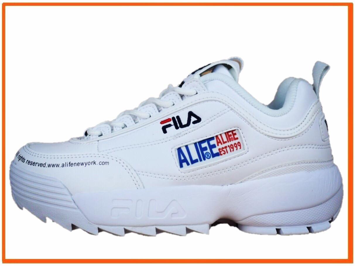 1bea151f9547c1 Женские кроссовки Fila X Alife Disruptor 2 White (алиф фила дисраптор 2,  белые)
