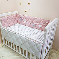 Комплект Маленькая соня Универсальный стандарт защита+простынь детский темная пудра арт.0700345