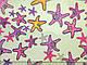Трикотаж попкорн морские звезды, ментол, фото 2