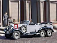 Германский легковой автомобиль G4 (производства 1939 г.) с пассажирами.  1/35 ICM 35531