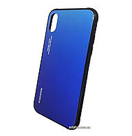 Чехол-накладка TPU+Glass Gradient для iPhone X / Xs Blue
