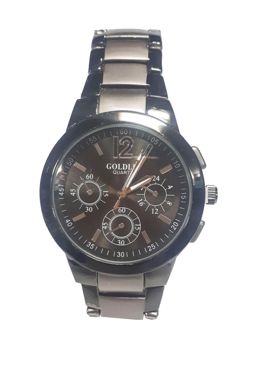 Часы кварцевые мужские на браслете Goldis 1010