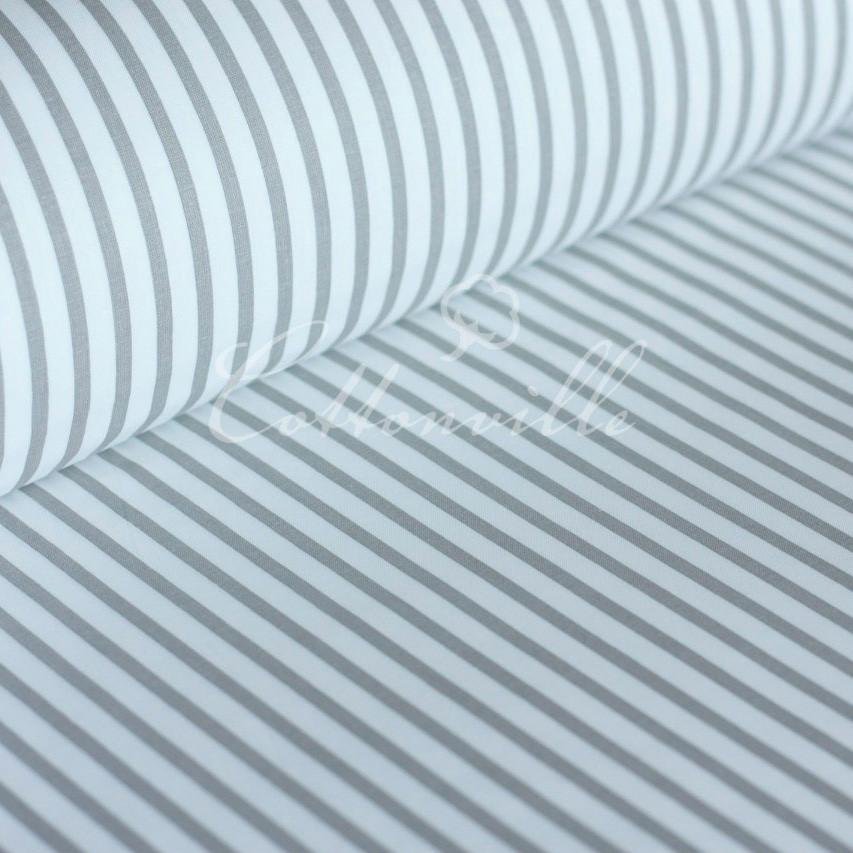 Ранфорс полоски серые 220 см