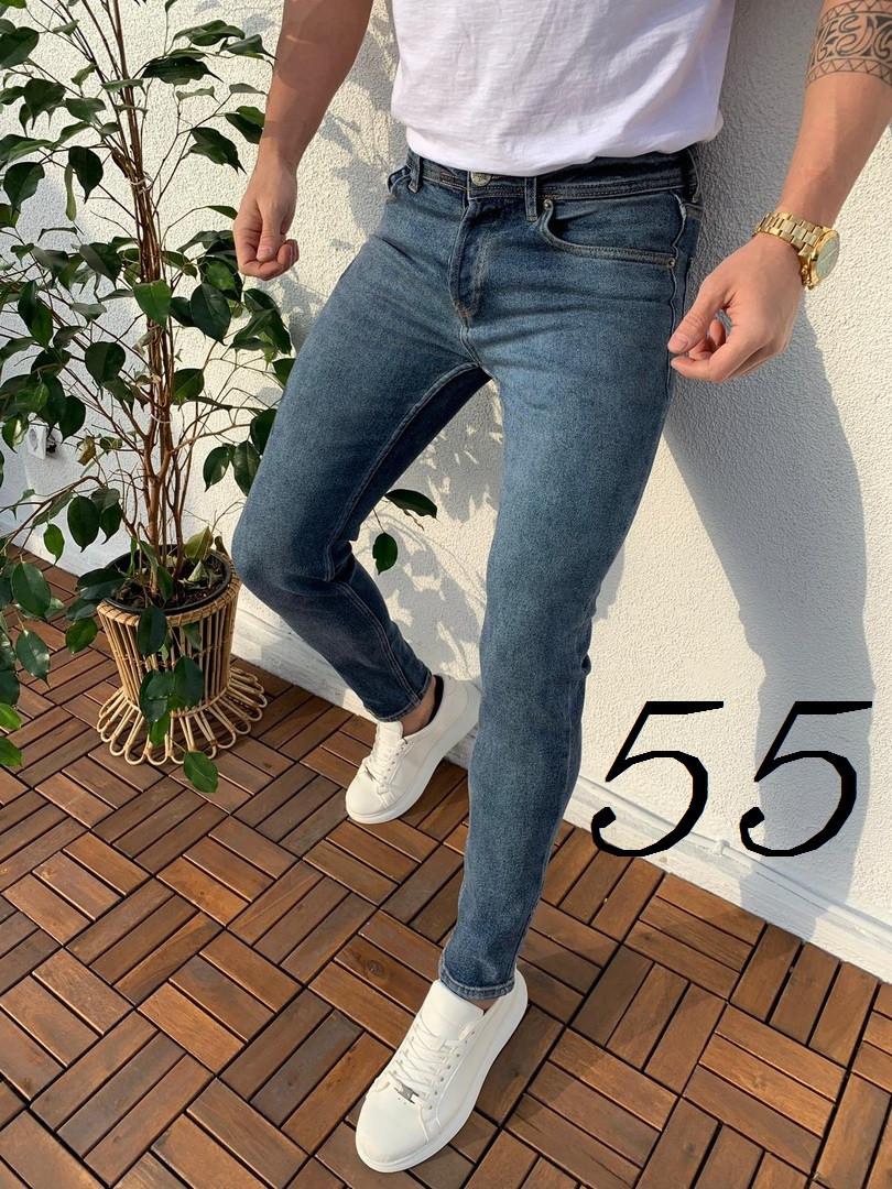 f4b8dcd2372cc Мужские Весенние Приталенные Джинсы Slim Fit (Турция) Качественные Джинсы  Синие Мужские Джинсы