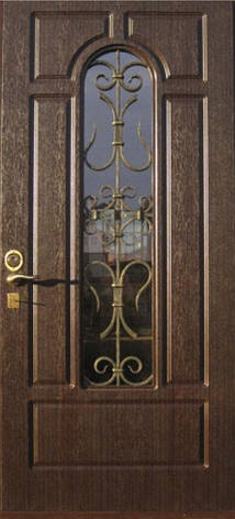 Двери уличные, модель 95 PRESTIGE, 970*2050, коробка 110 мм, KALE, накладки 16 мм, ковка, стеклопакет, фото 2