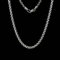 Серебряная цепочка плетение Ручеек 50 см