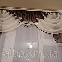 Ламбрекен на окно в кухню, богатый ламбрекен в зал спальню гостинную, ламбрекен на кухню, ламбрекены для, фото 4