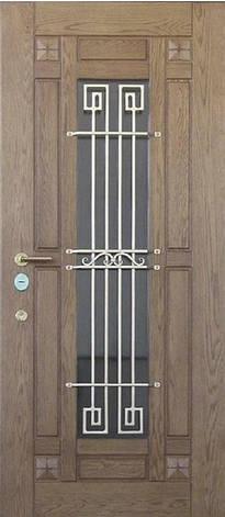 Двери уличные, модель 100 Премиум, 970*2050, коробка 110 мм, ковка,стеклопакет, влагостойкие накладки по 16 мм, фото 2