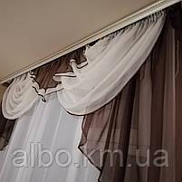Ламбрекен на окно в кухню, богатый ламбрекен в зал спальню гостинную, ламбрекен на кухню, ламбрекены для, фото 2