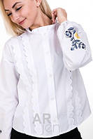Нежная рубашка с удлиненными плечами Размер S M L