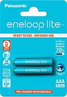 Аккумуляторы Eneloop Lite AAA (550 2BP mAh Ni-Mh), 2 шт, Panasonic