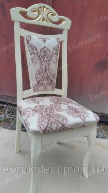 Стул деревянный ЛОРД белый или цвета слоновой кости с патиной