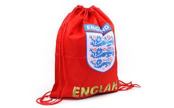 Рюкзак-мешок ENGLAND (PL, р-р 34х43см, красный)