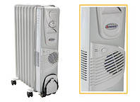 """Масляний електричний радіатор """"Термія"""",10 ребер з вентилятором модель 1024В"""