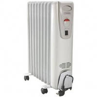 """Масляний електричний радіатор """"Термія"""", 11 ребер з вентилятором модель 1124В"""