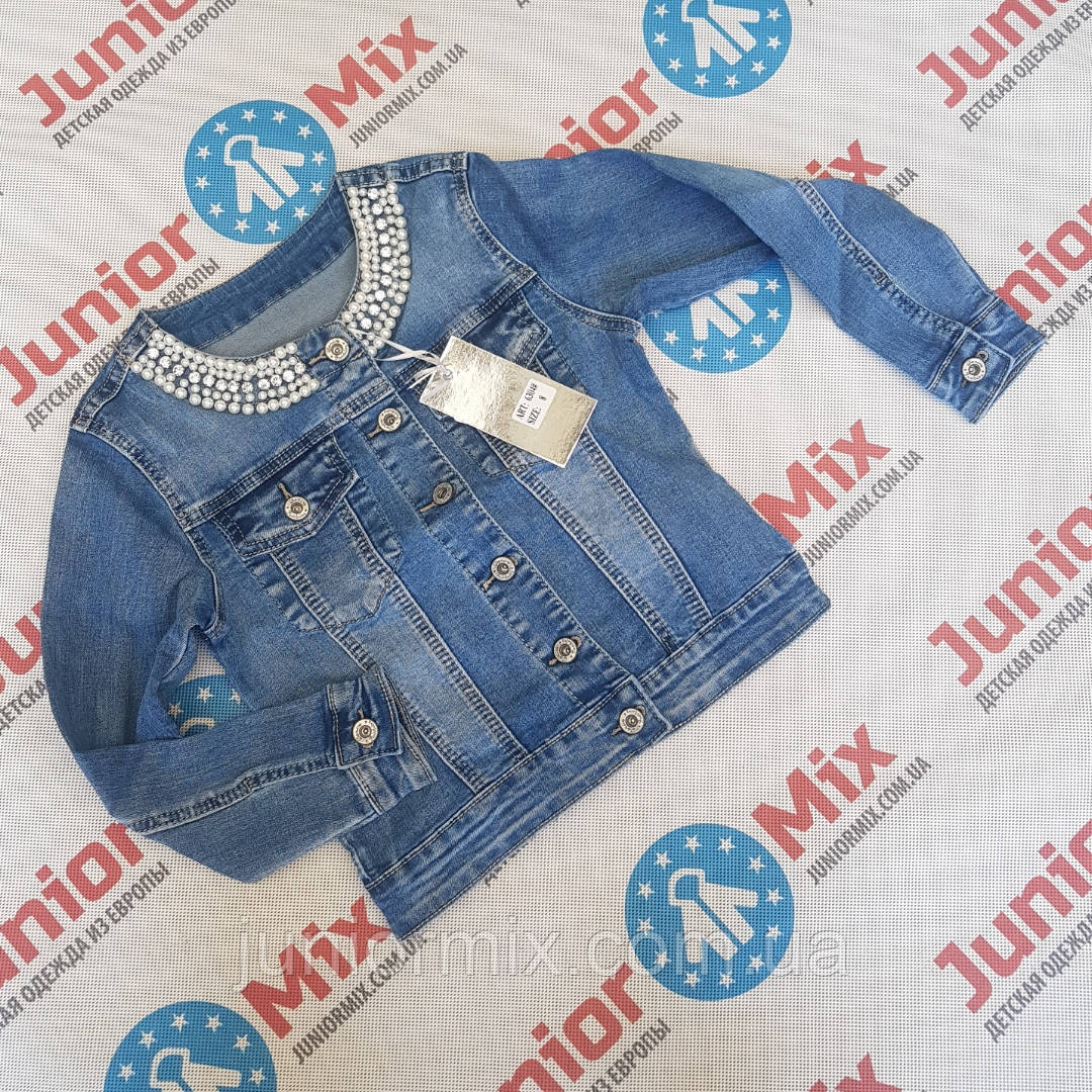 Подростковый джинсовый пиджак  для девочек оптом