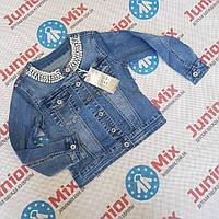 Подростковый джинсовый пиджак  для девочек оптом, фото 1