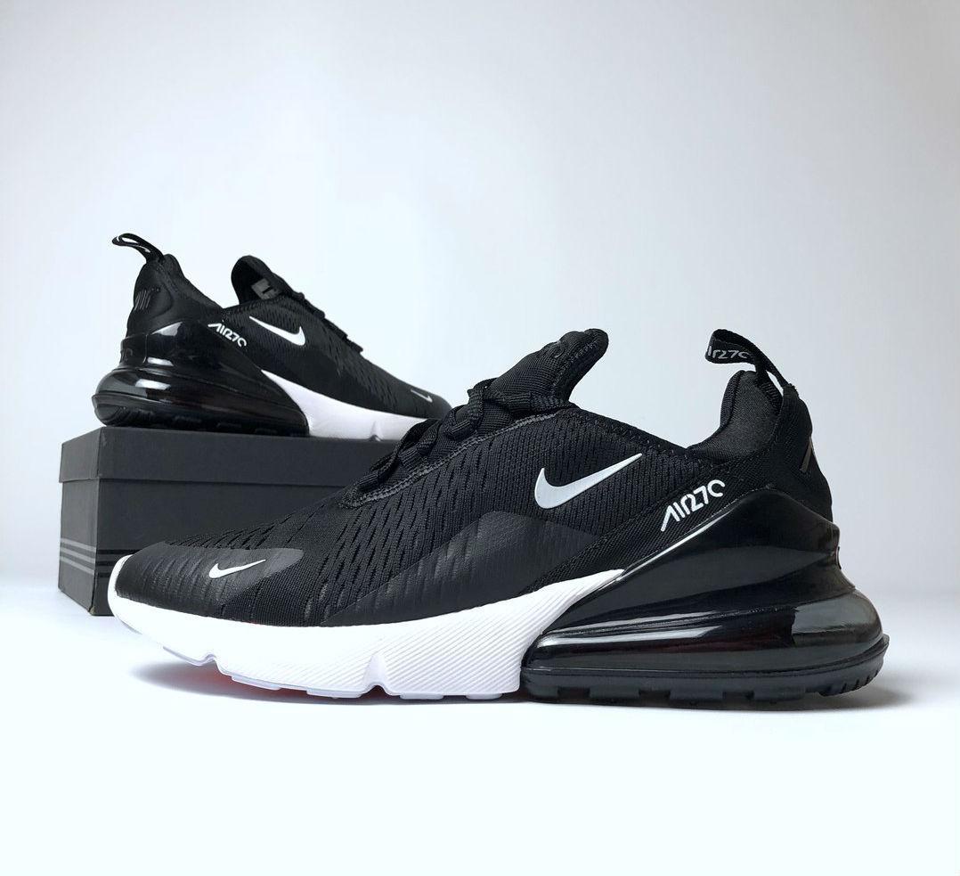 a4e7e700 Nike Air Max 270 Black White   кроссовки женские и мужские; летние; черно-