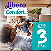 Підгузники Libero Comfort Midi 3 Mega Pack (5-9 кг) 62 шт.