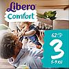 Подгузники Libero Comfort Midi 3 Mega Pack (5-9 кг) 62 шт.