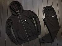 Мужской весенний спортивный костюм Nike (black), черный спортивный костюм, (Реплика ААА)