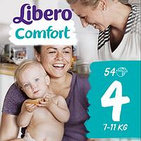 Подгузники Libero Comfort Maxi 4 Mega Pack (7-11 кг) 54 шт.