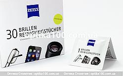 Вологі серветки ZEISS 30 шт. для окулярів і оптики