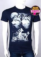Мужская футболка с волками (норма) светится в темноте, фото 1