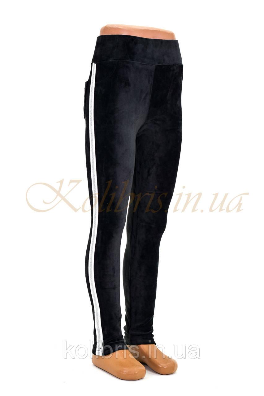 Лосины детские, черный велюр, ЛАМПАС, р.104-122