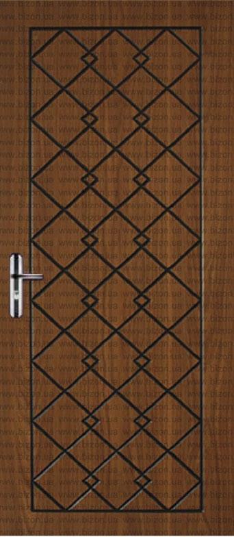 Двері квартирні, модель 133 Преміум 870*2050, коробка 110 мм, метал 2 мм, VINORIT, замок MOTTURA, глухі