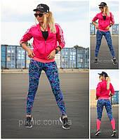 Спортивные лосины, леггинсы для фитнеса модель Молния с розовой вставкой!, фото 1