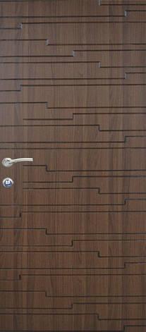 Двери квартирные, модель 135 Премиум, 970*2050, коробка 110 мм, металл 2 мм, замок MOTTURA, накладки 16 мм, фото 2