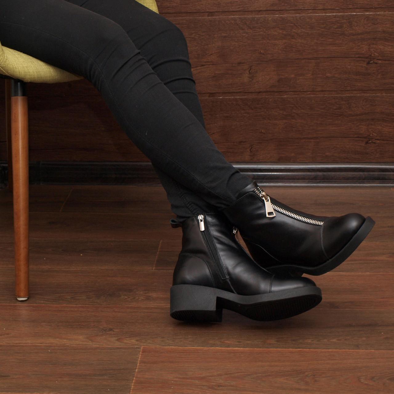70c8793b8 Женские кожаные ботинки черные зима Lovinni 18001-11 (37, 39 ...